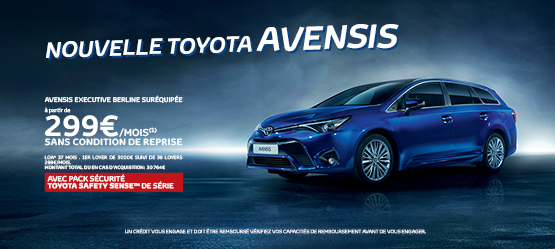 Nouvelle Toyota Avensis