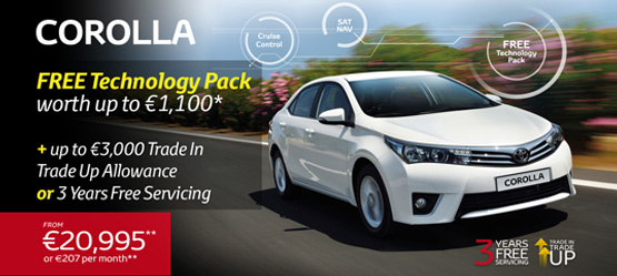 Corolla now with Free Technology Pack worth up to €1,100