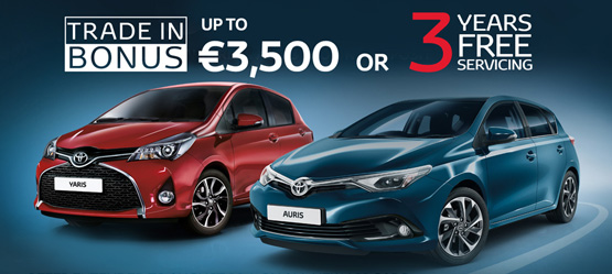 Up to €3,500 Scrappage Bonus or 3 Years Free Servicing