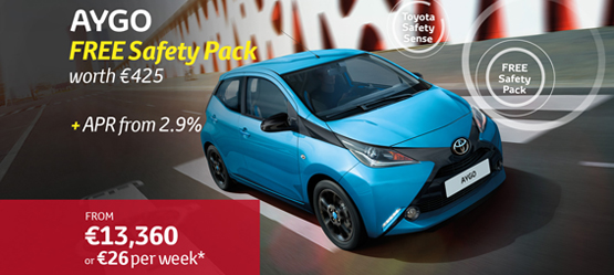 AYGO with Free Toyota Safety Sense Safety Pack worth €425