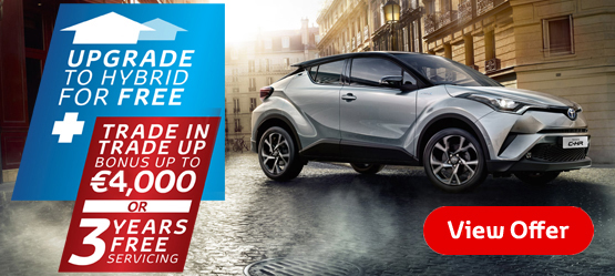 Drive a 181 C-HR from €26,895* or €52 per week**