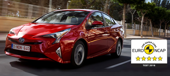 New Toyota Prius Awarded Top Five-Star Rating in Euro NCAP Safety Testing