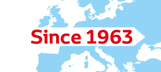 « Since 1963 in Europe / Over 50 years of History in Europe »