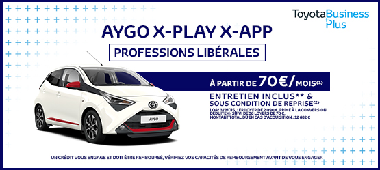 Toyota AYGO X-Play Touch Professions Libérales
