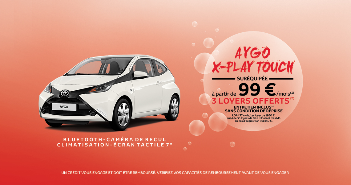 Toyota AYGO x-Play Touch Suréquipée