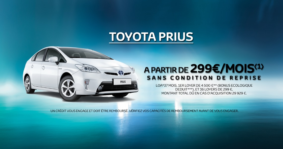 offre sp ciale toyota prius pr parez vous changer. Black Bedroom Furniture Sets. Home Design Ideas