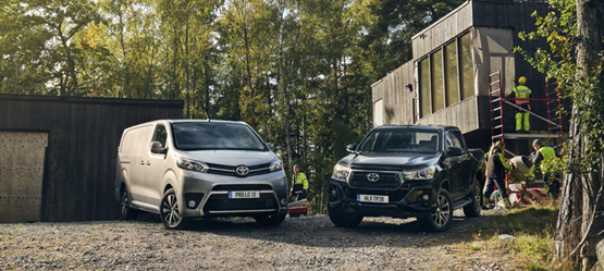 Gamme véhicules utilitaires Toyota
