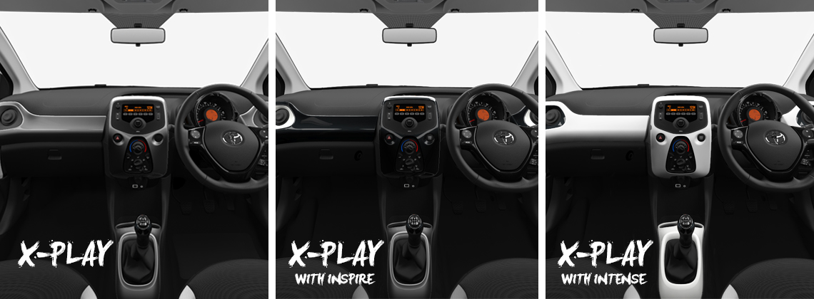 AYGO x-play with different interior packs