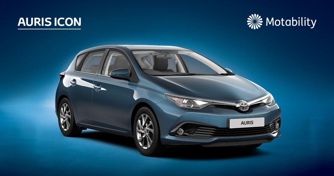 Auris Icon 1.2 Manual with £95 advance payment (Motability Users Only)