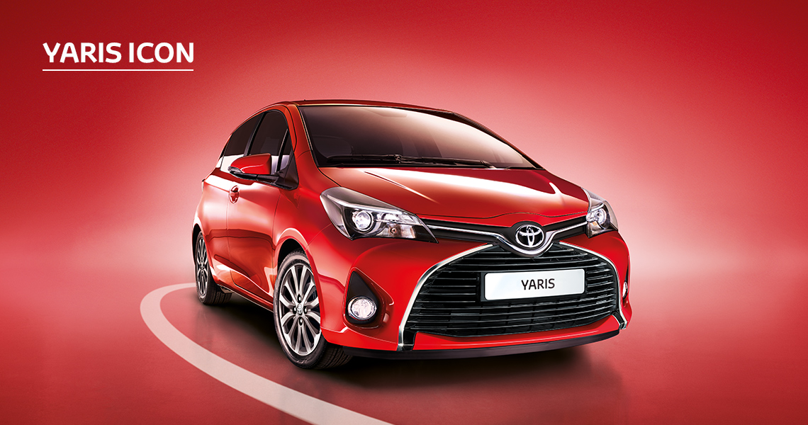 Yaris Icon inc Toyota Safety Sense with Nil advance payment (Motability Users Only).