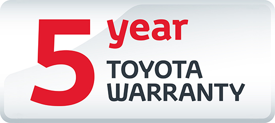 Toyota 5 Year Warranty