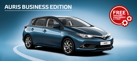 Auris Business Edition from £182 + VAT per month^ (Contract Hire)