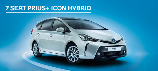 Prius+ Icon Hybrid from £243 + VAT per month† (Contract Hire)