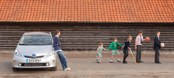 Prius+ Goes on the School Run