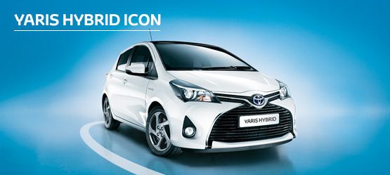 Yaris Hybrid Icon from £176 + VAT per month† (Contract Hire)