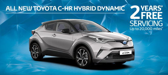 <strong>All New Toyota C-HR Hybrid Dynamic </br>5.9% APR Representative*</strong>