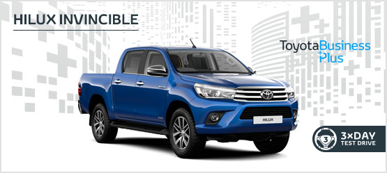 Hilux Invincible Automatic £279 + VAT per month* (Customer maintained)