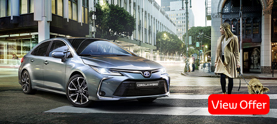 All-new 2019 Corolla Saloon Hybrid from €26,820 or from €215 per month**