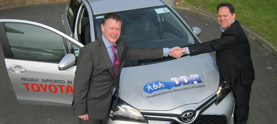 Toyota announce support for Disabled Drivers Association