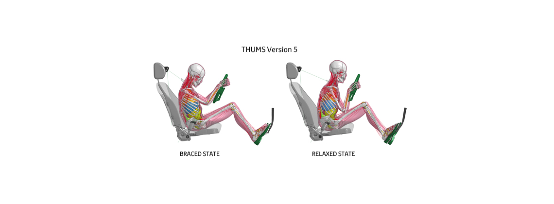 Toyota's Virtual Crash Dummy Software Models Occupant Posture Before Collission