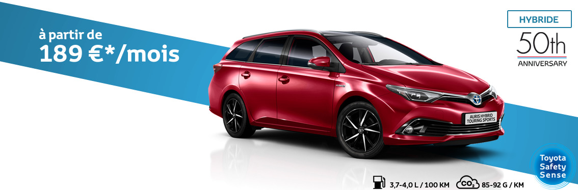 Auris Touring Sports 1.8 Hybride Comfort avec pack 50th Anniversary+