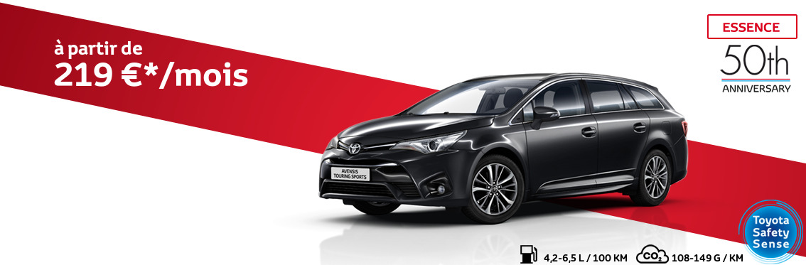 Avensis Touring Sports 1.6 Essence Comfort avec pack 50th Anniversary