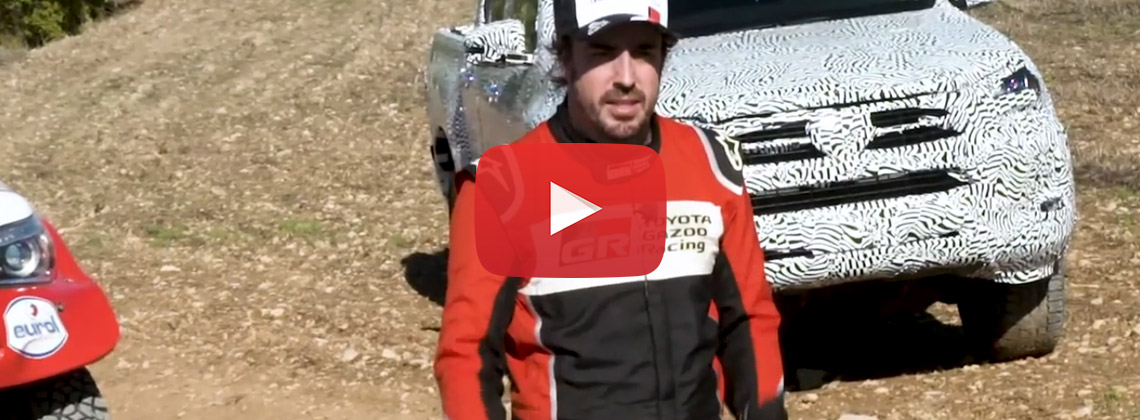 Video Toyota Hilux en Fernando Alonso