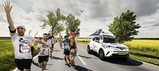 Toyota rijdt mee tijdens Wings for Life World Run