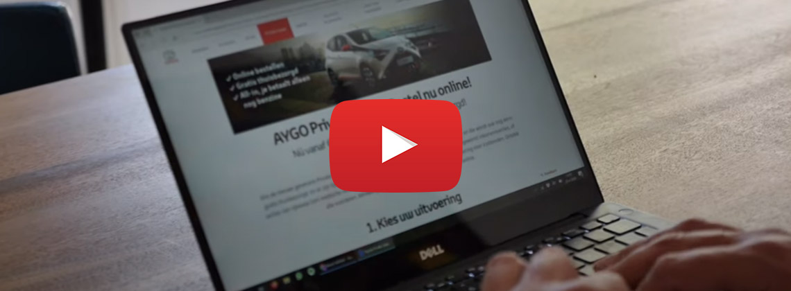 Laptop scherm met daarop pagina Toyota Private Lease